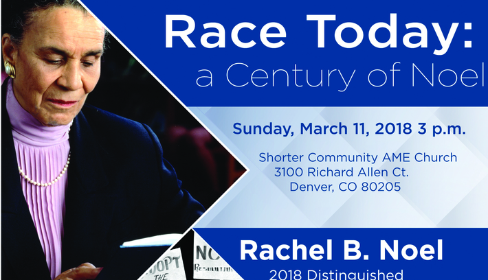 Rachel B. Noel's Gift To Women's History MSU Denver's Annual Rachel B. Noel Distinguished Visiting Professorship